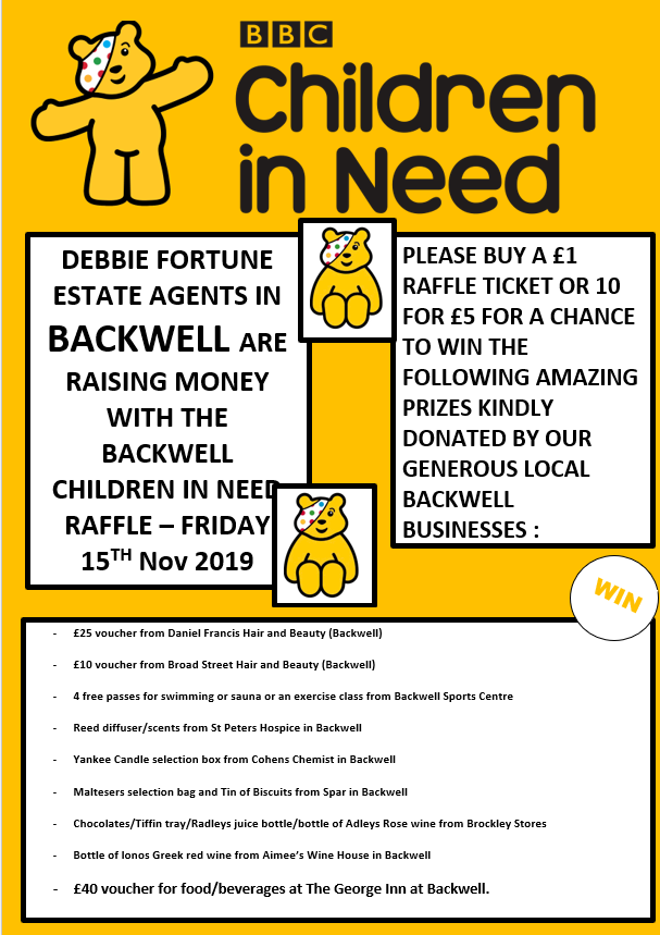 We are all ready in our Backwell office for Children in Need tomorrow!