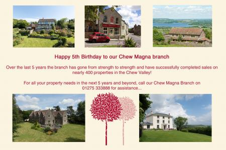 Chew Magna celebrates its 5th Birthday !