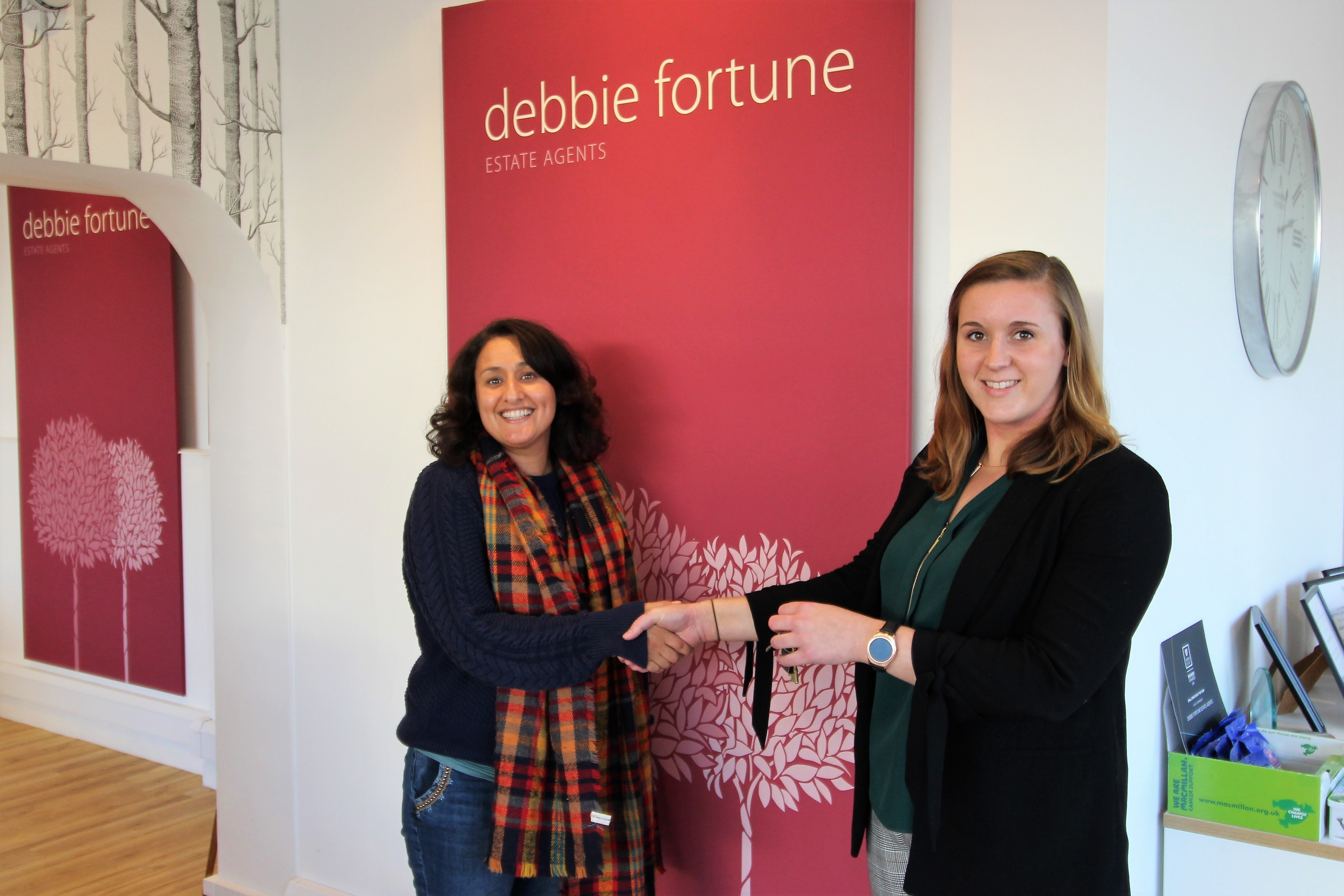 Another happy buyer collects the keys for their new home in Nailsea!