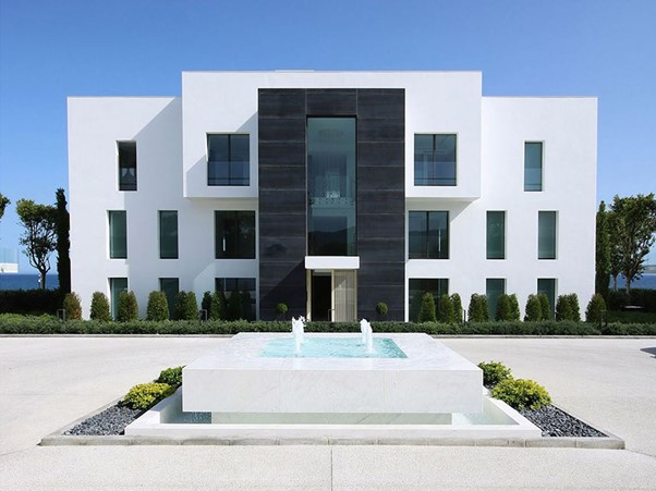 amazing dream house modern contemporary black white villa on beach