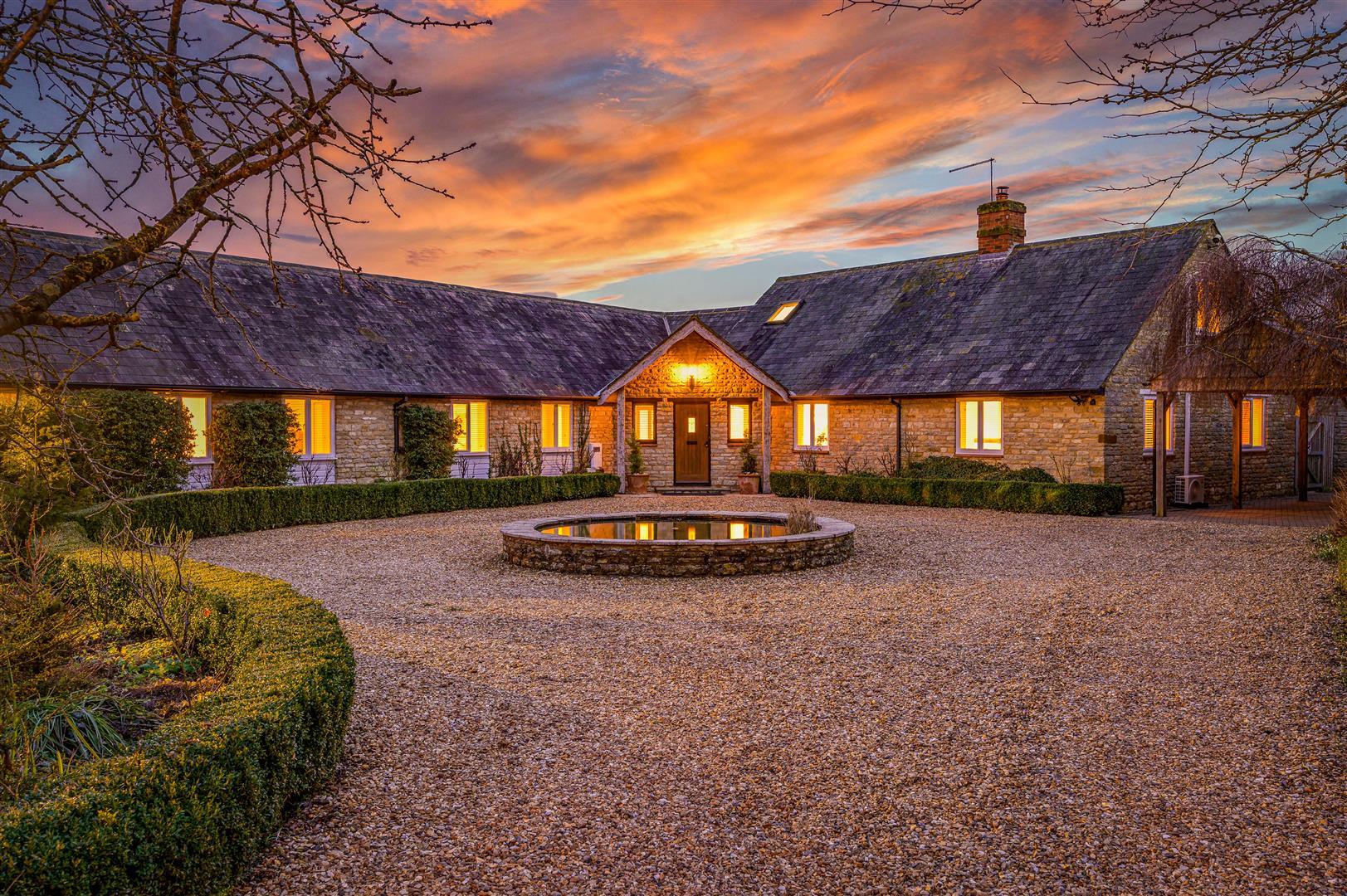 beautiful stone built farmhouse barn conversion sunset