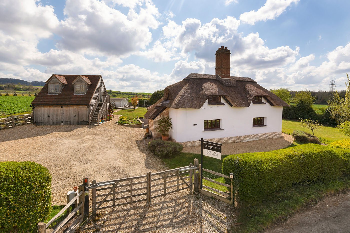 beautiful thatched country cottage in Aylesford, Kent with Fine & Country
