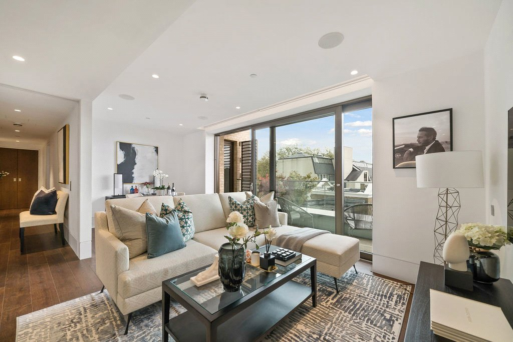 beautifully styled modern contemporary interior design apartment in Chelsea