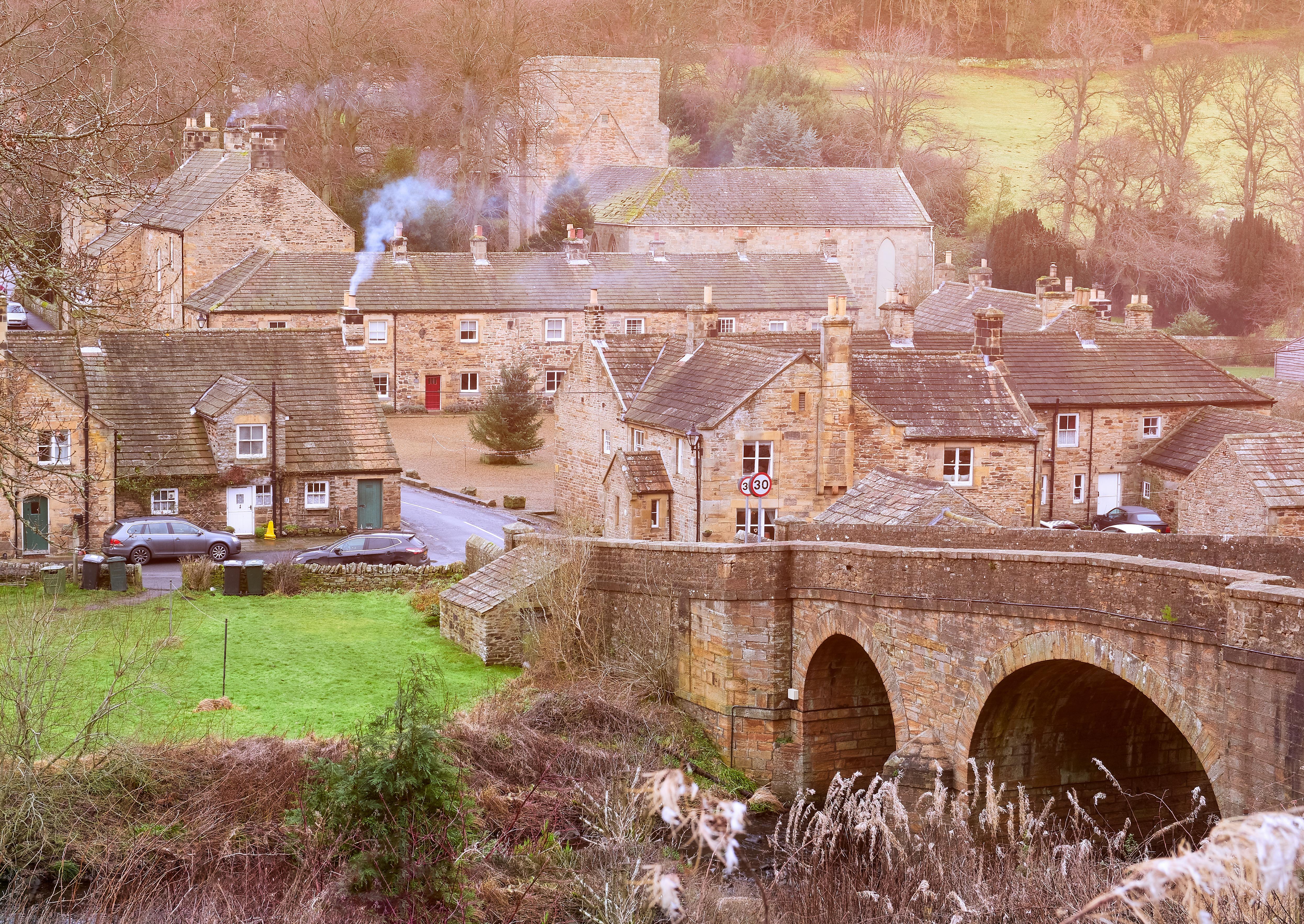 Blanchland in County Durham England Winter village