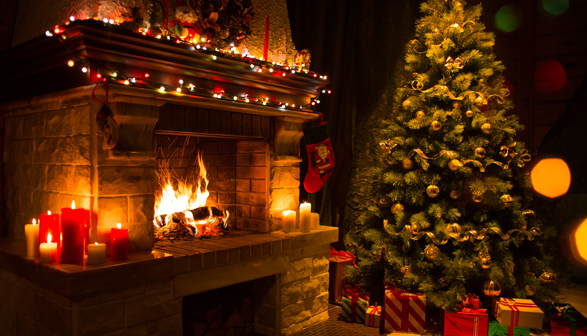 Burning desire: Santa's favourite fireplaces