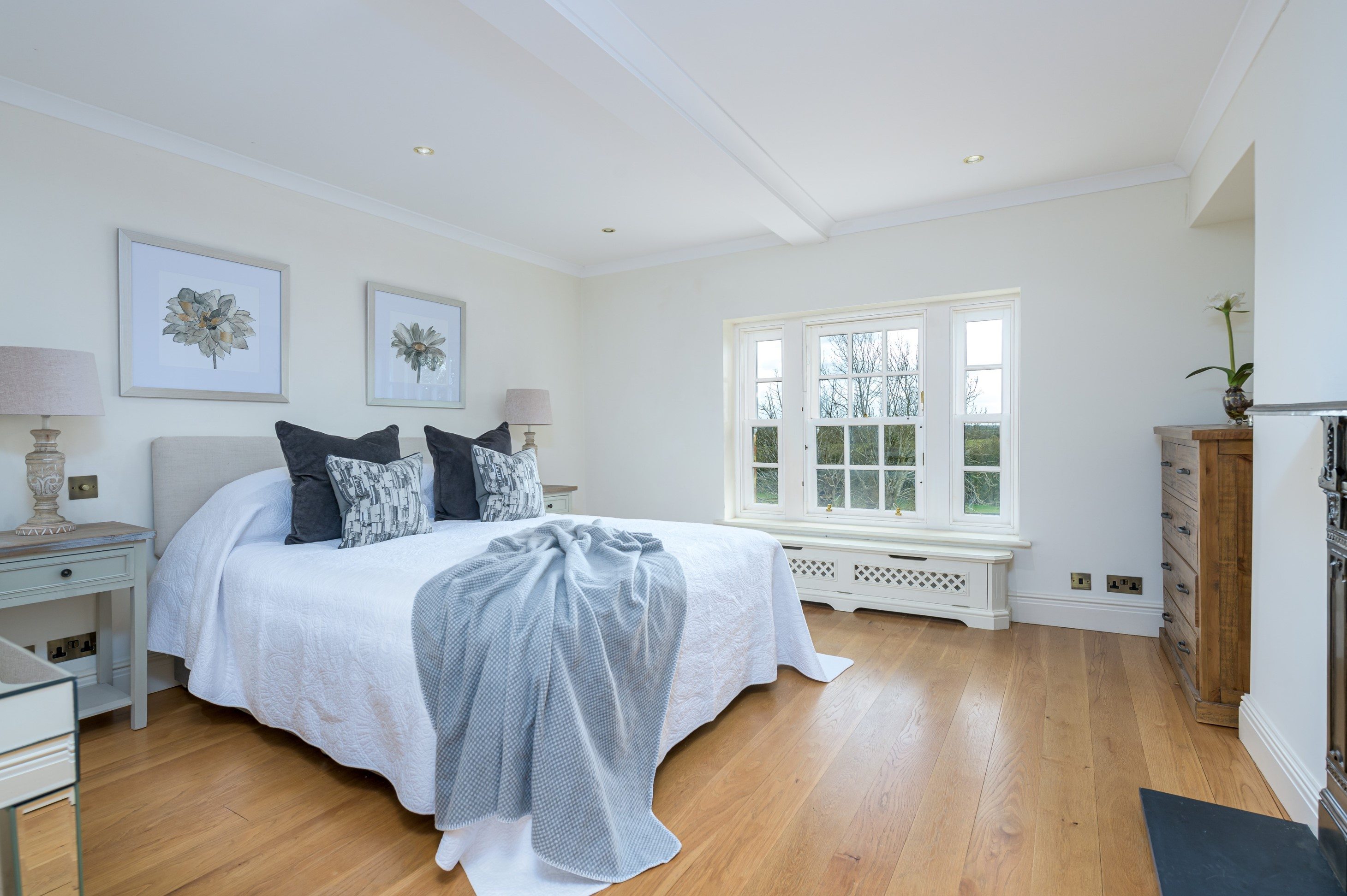 contemporary interior design before after blue bedroom