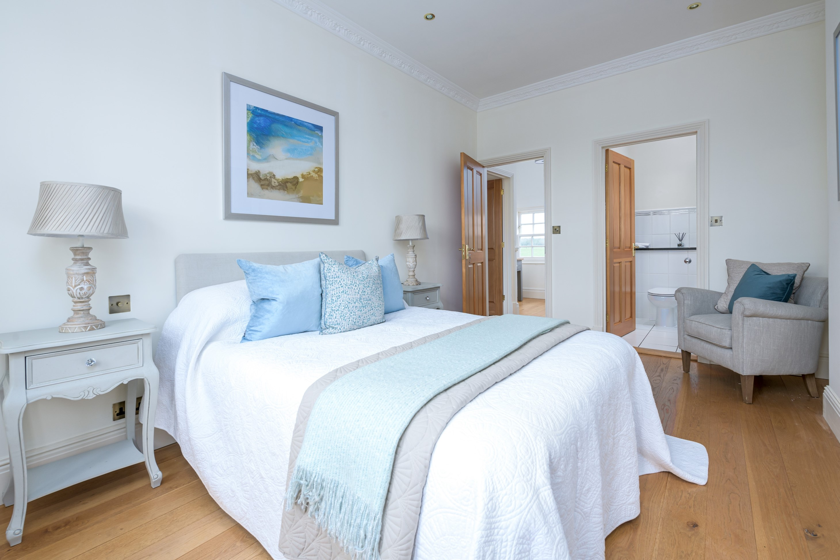contemporary interior design before after blue bedroom 3
