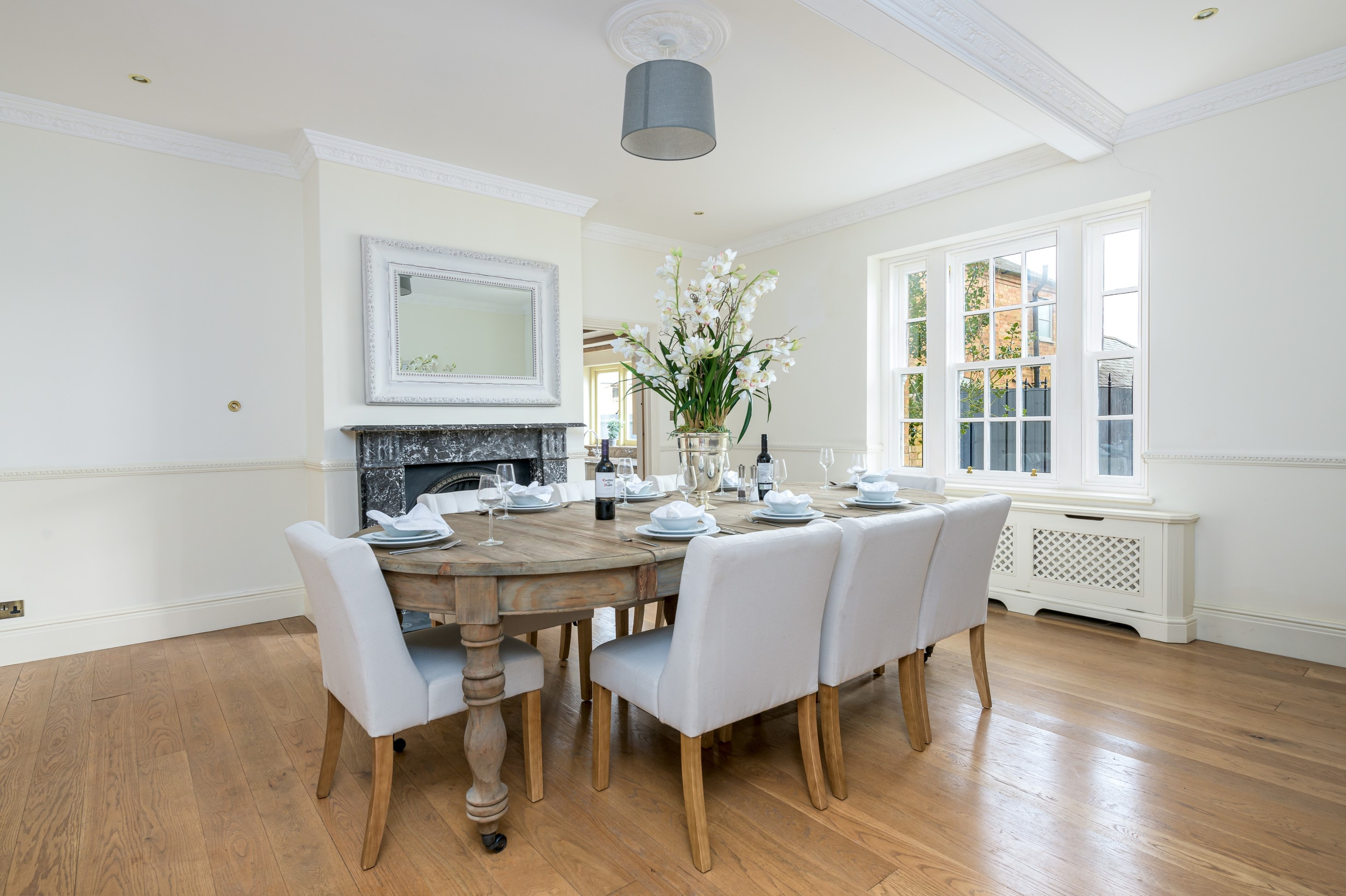 contemporary interior design before after dining room