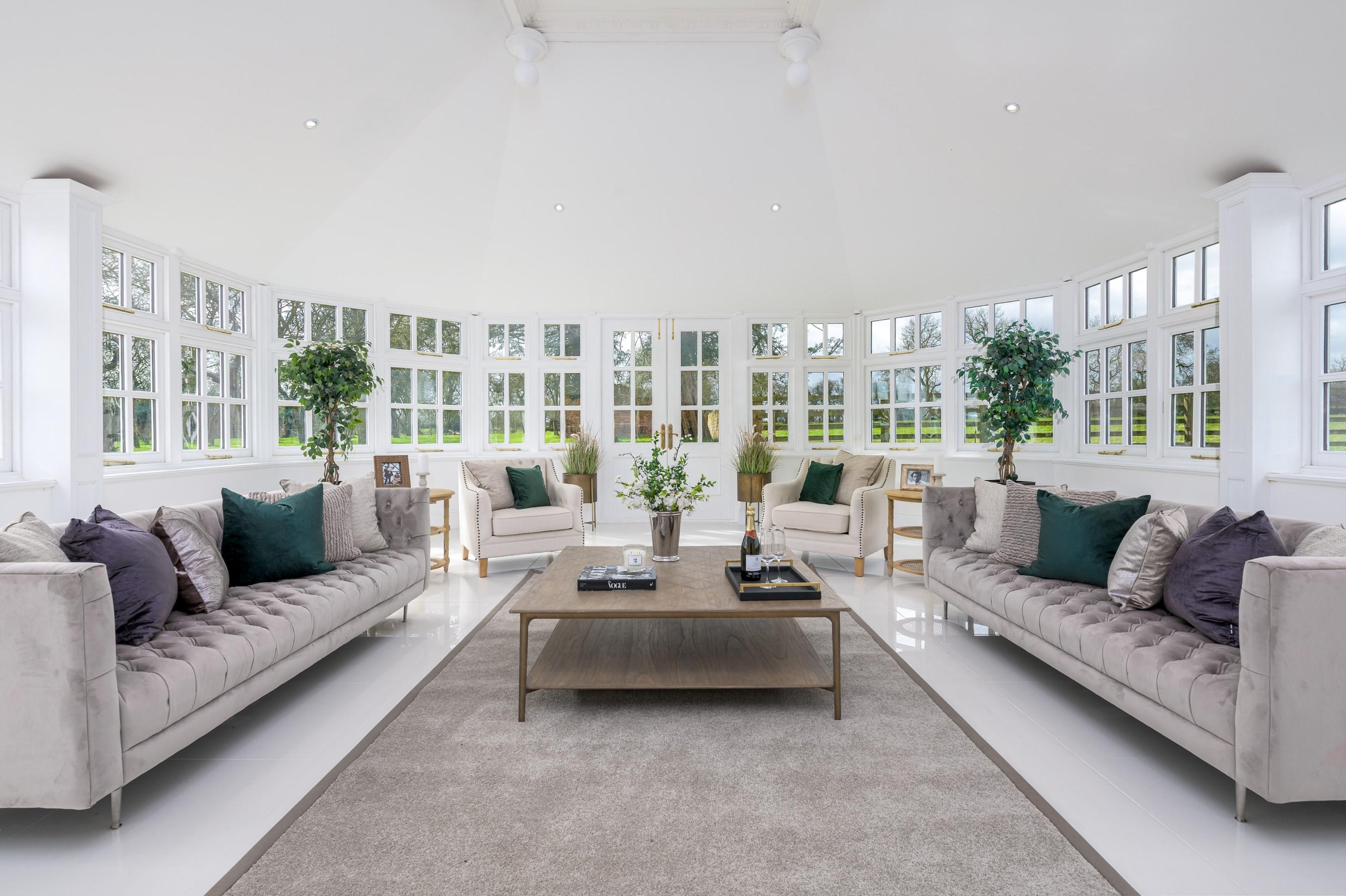 contemporary interior design before after garden room