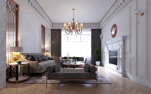 contemporary luxury interior design in period house