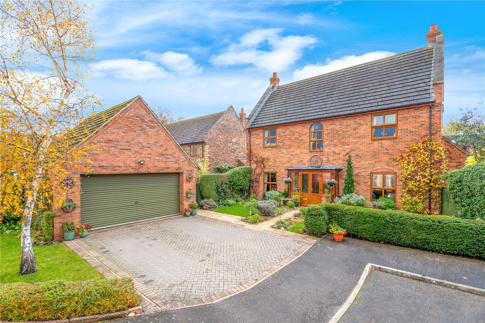 contemporary red brick family home in Bassingham, Lincolnshire