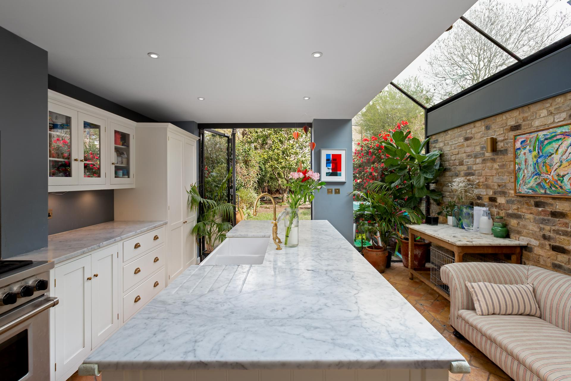 contemporary renovated london terraced house kitchen