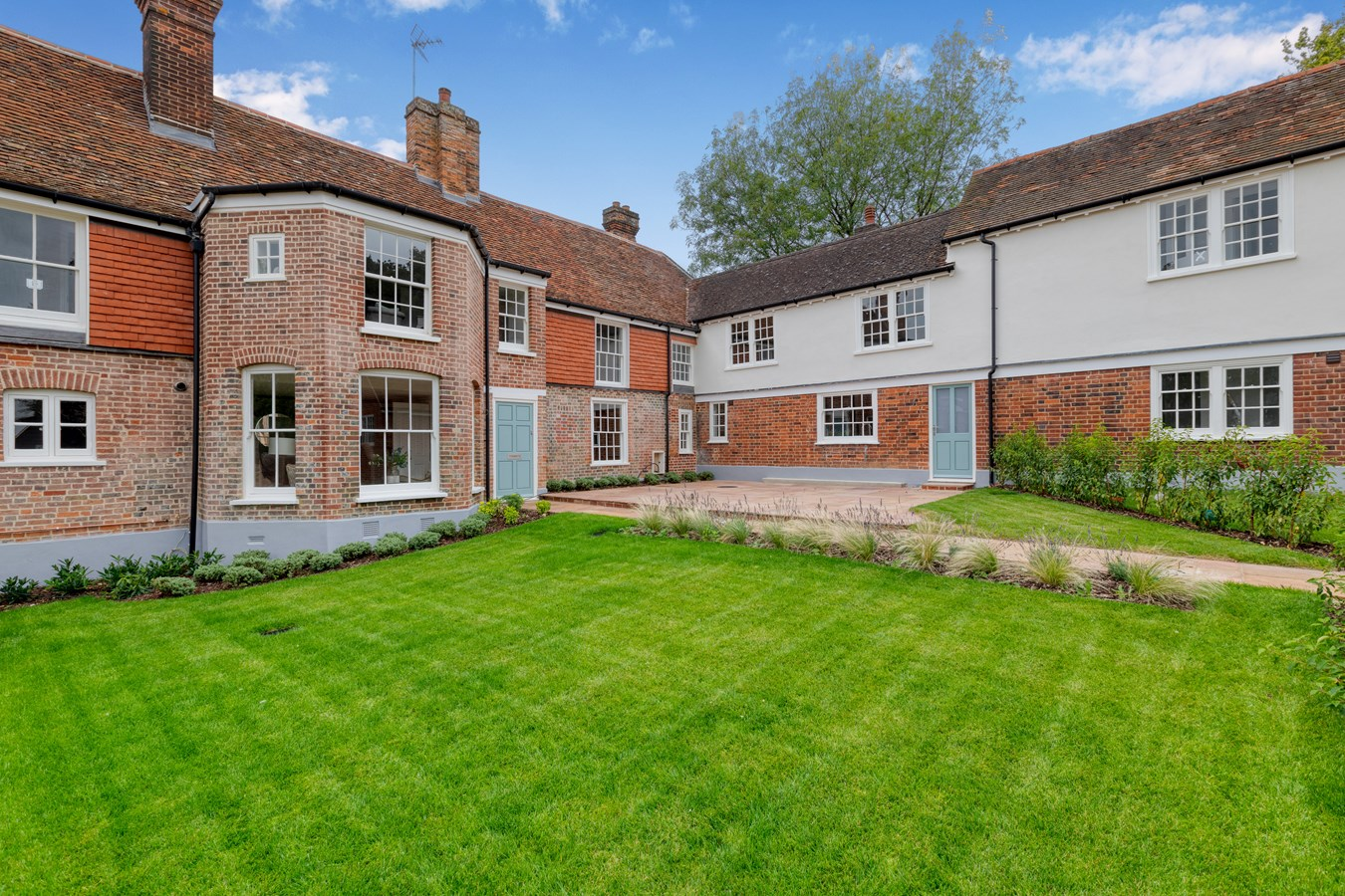 converted renovated terraced old English farmhouse
