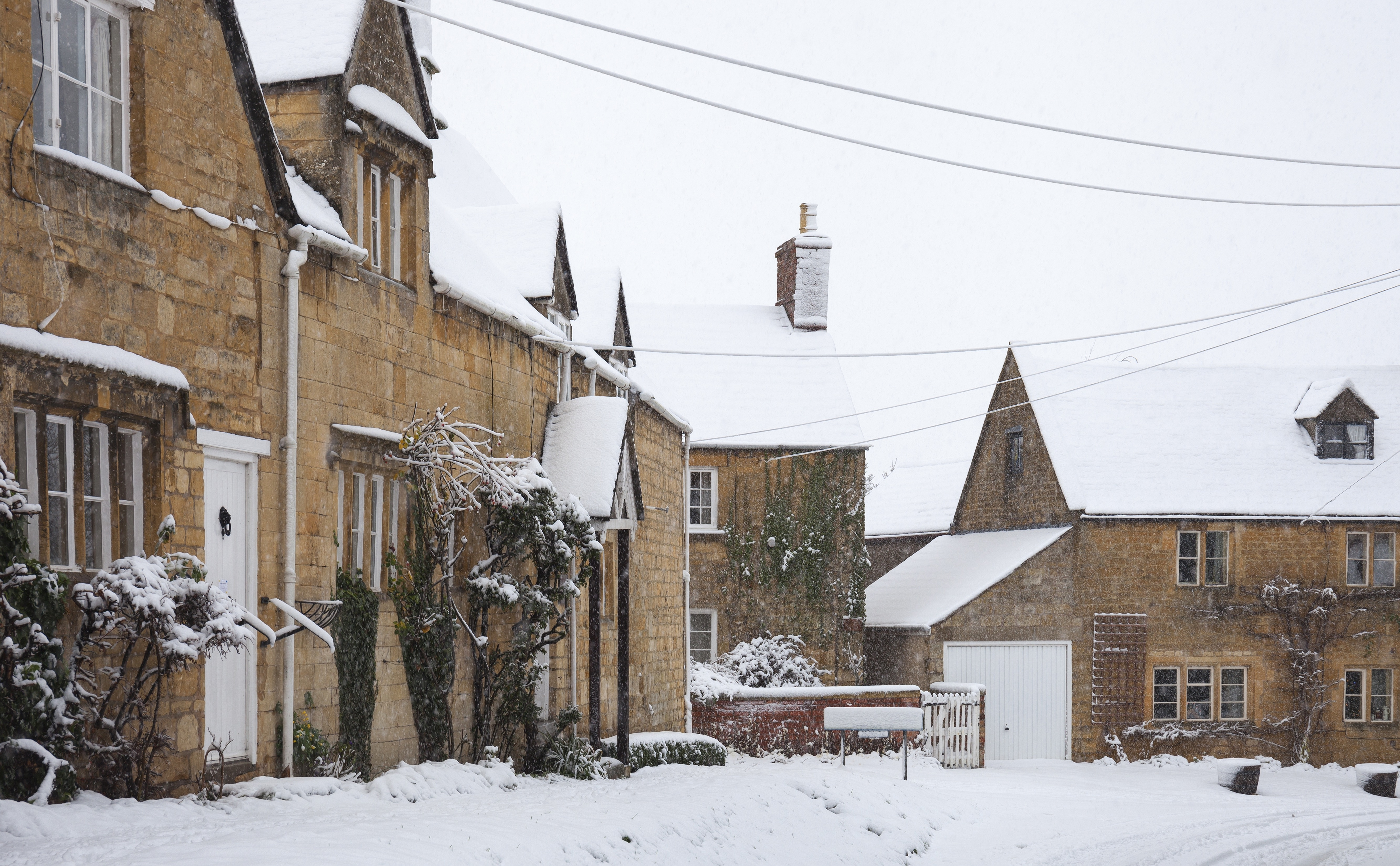 Cotswold House in Snow, Mickleton, Chipping Campden