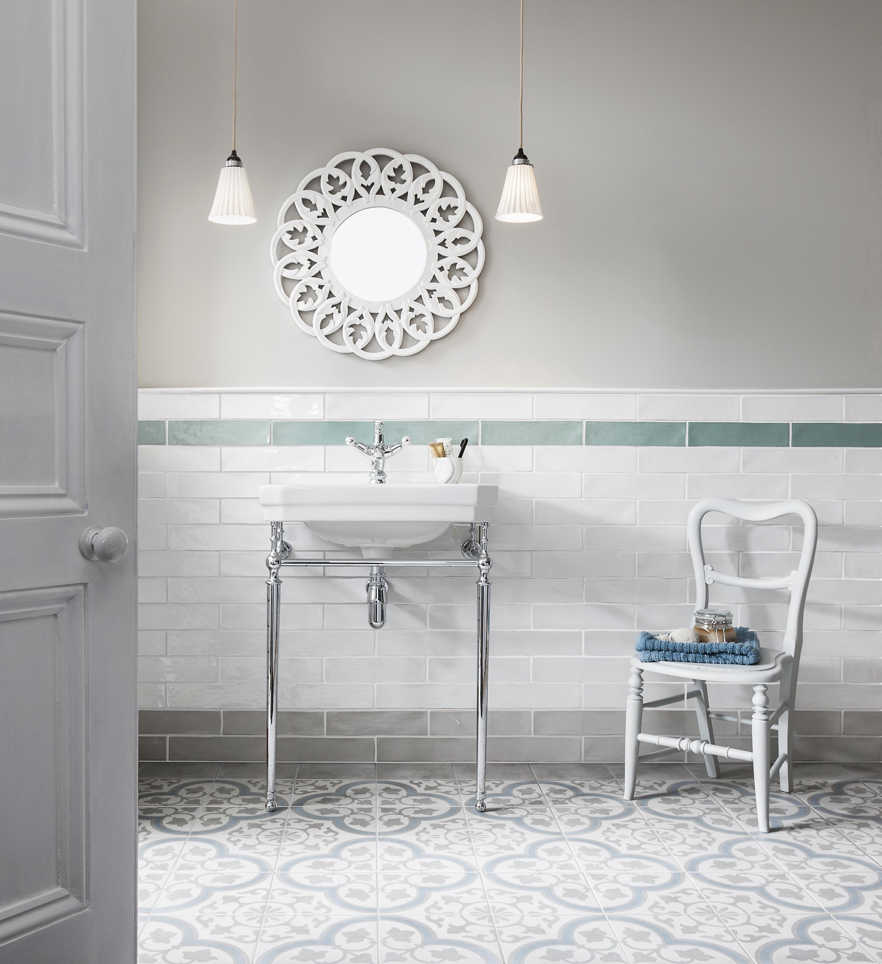 CTD Tiles  Mint Havana Silver Poitiers Bathroom Tiles A
