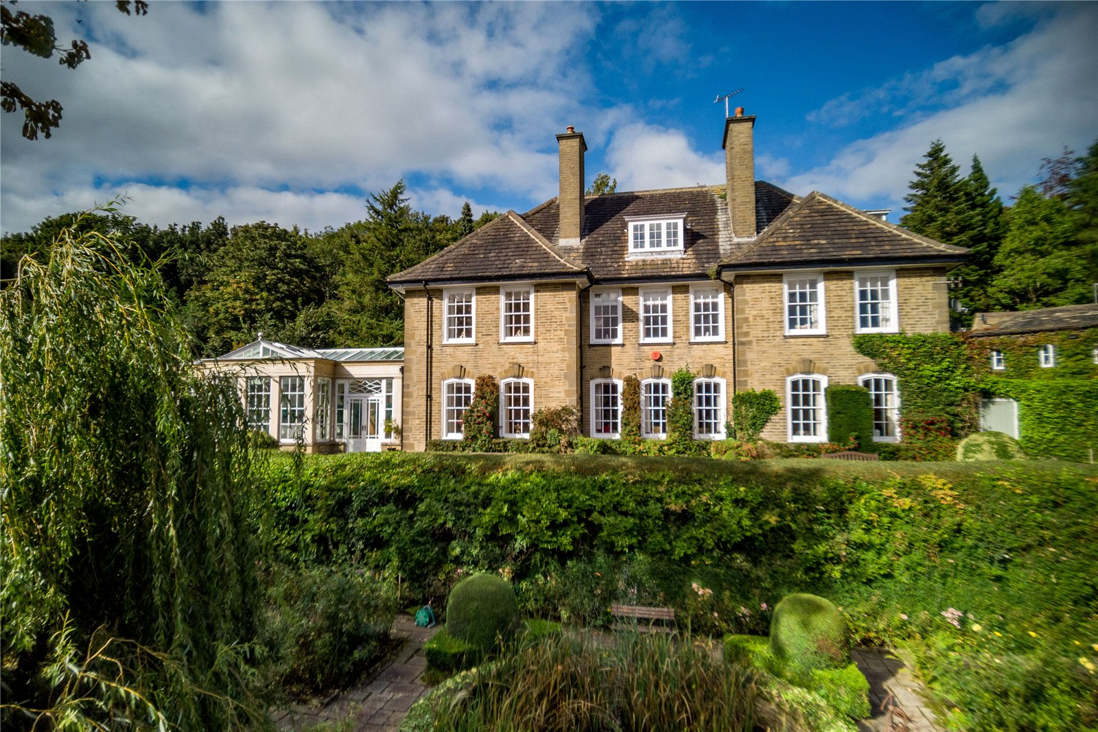 family country dream manor stone-built house in countryside
