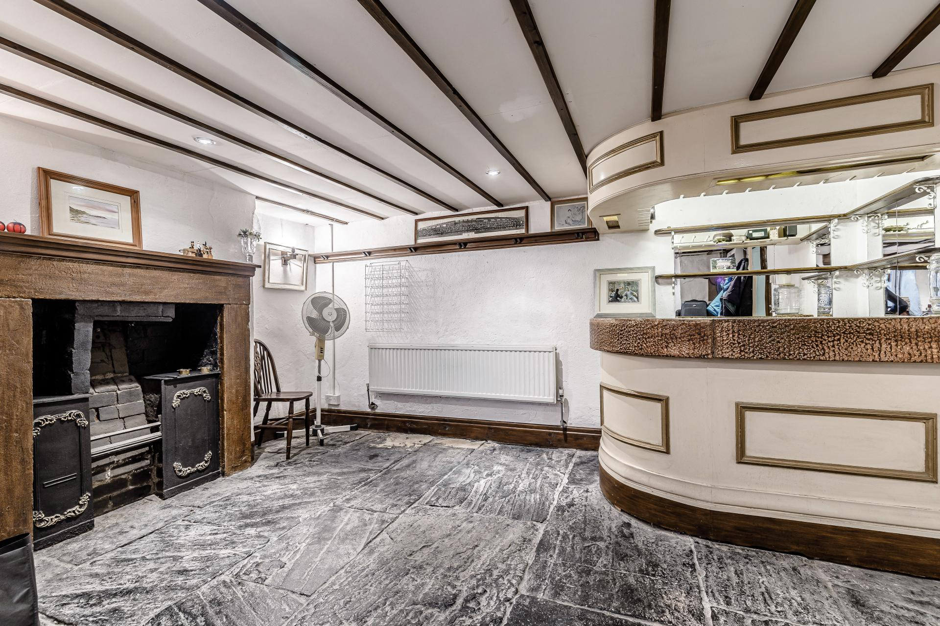 fitted home basement bar