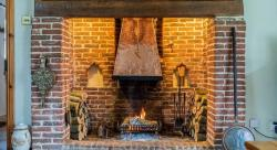 Christmas Homes with Chimneys and Fireplaces for Santa