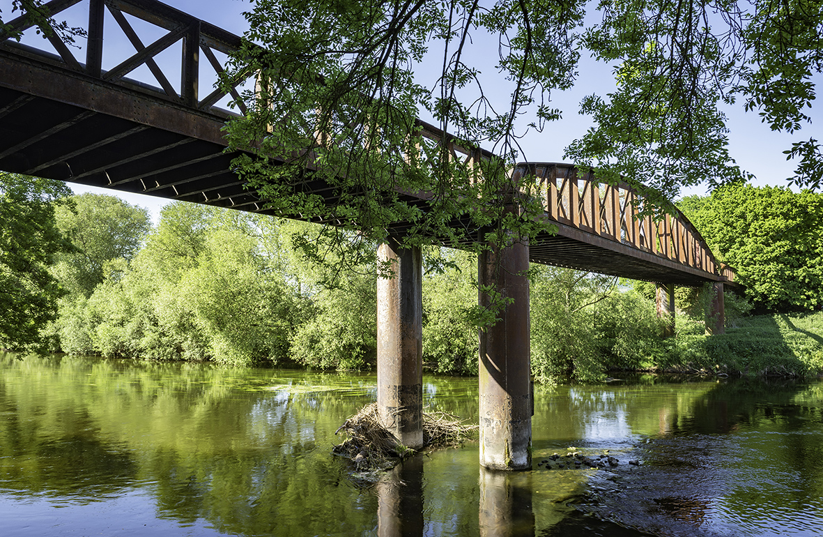 Iron bridge over River Wye