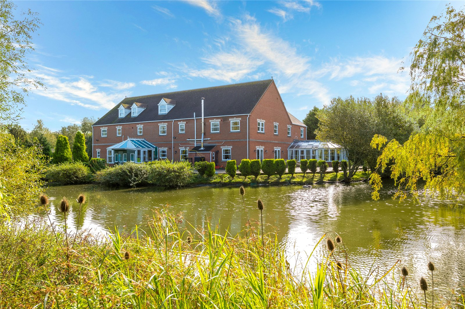 large family home waterside lake countryside property