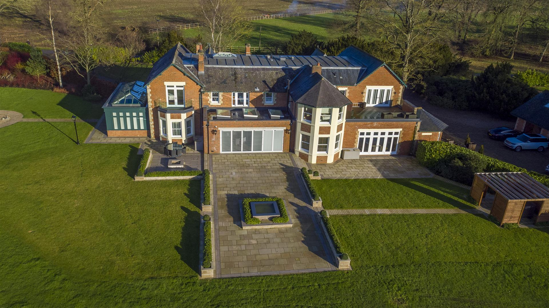 large grand traditional luxury rural family home