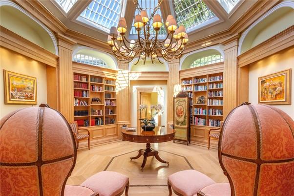 luxury elegant octagonal library orangery reading room
