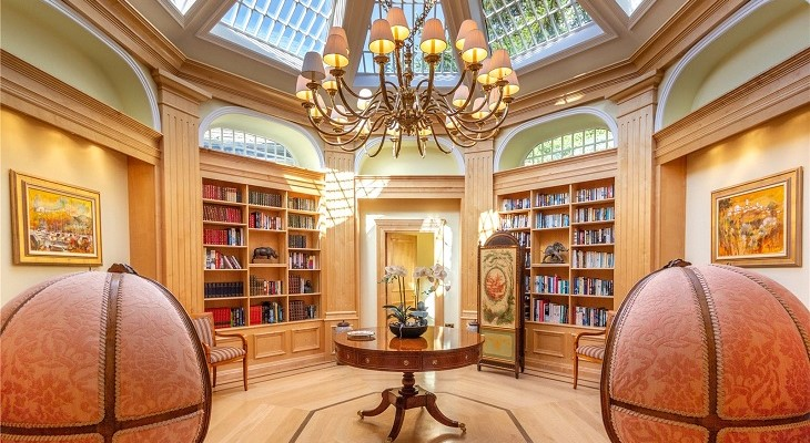 Top 10 Homes with Libraries