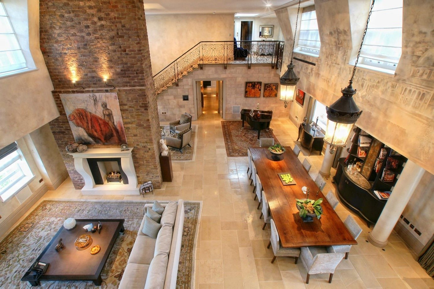 luxury penthouse London Kensington gothic apartment