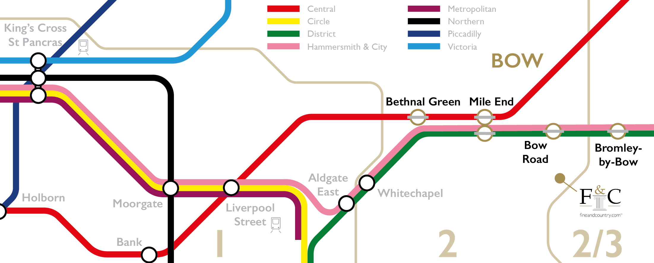 Tube map Bow