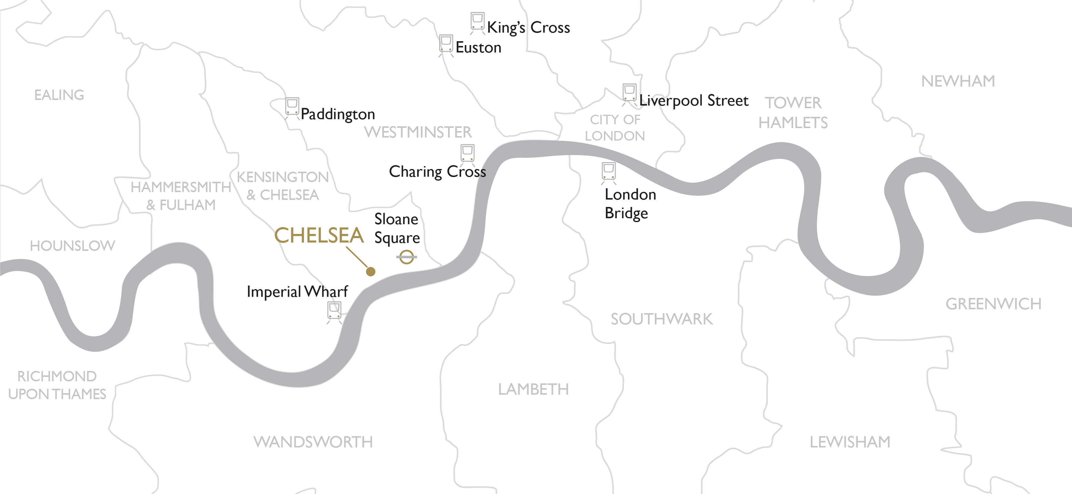 map of the chelsea area in london