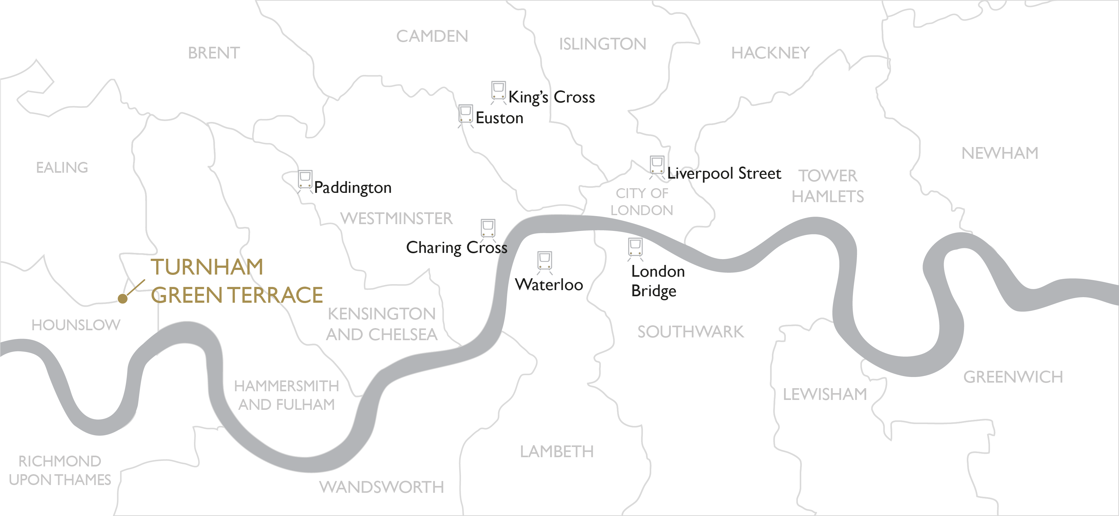 Map of Turnham Green Terrace in West London