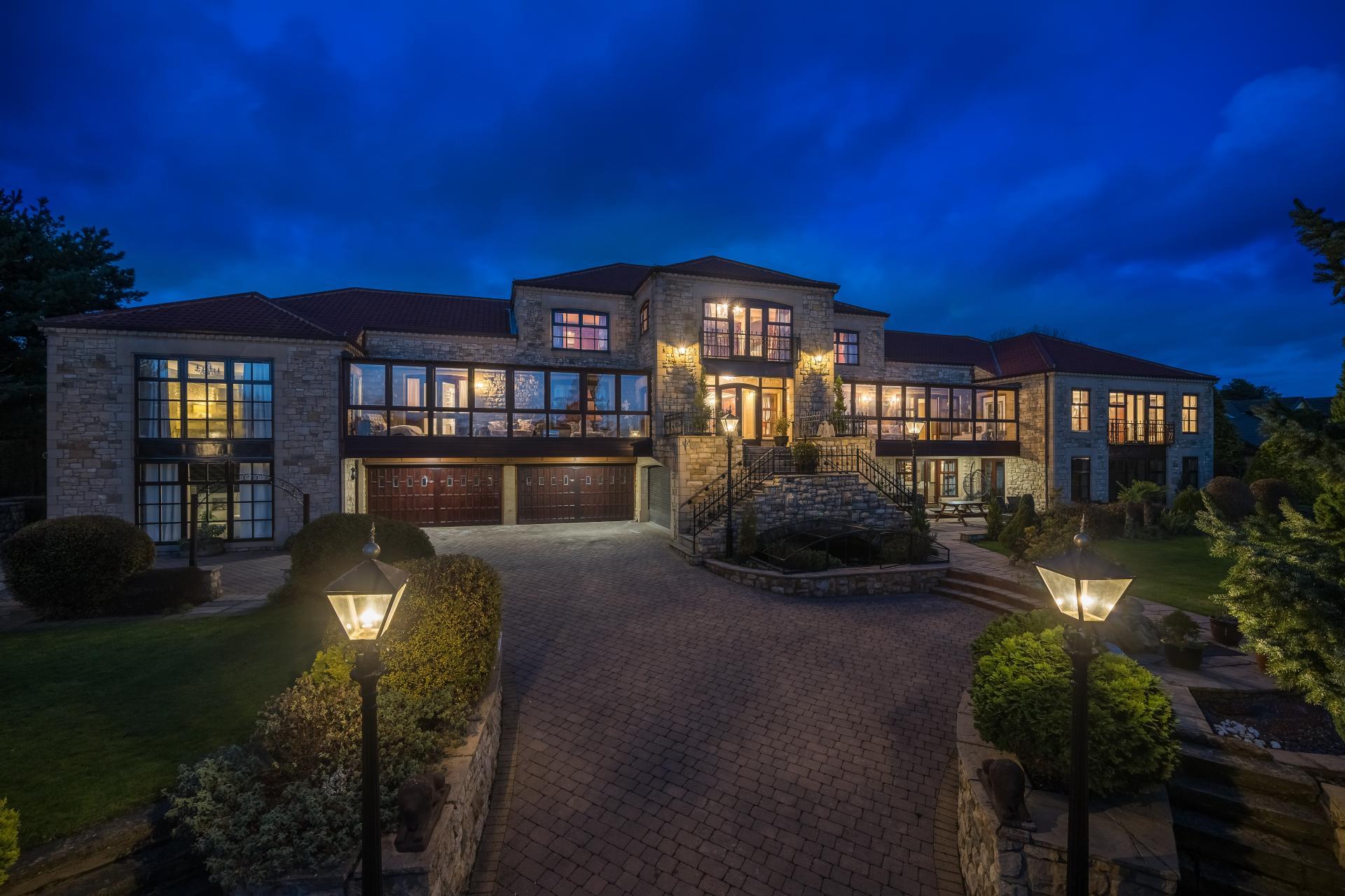 modern English stone built mansion house