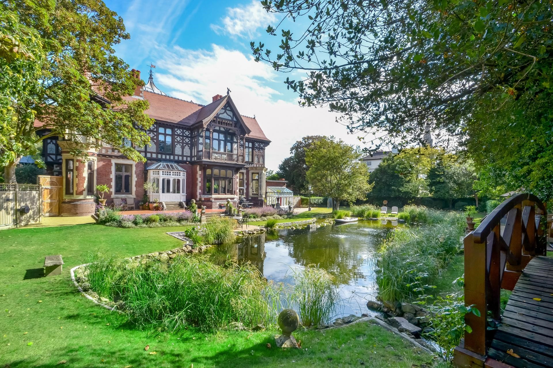Old Police House fresh water swimming lake period English home