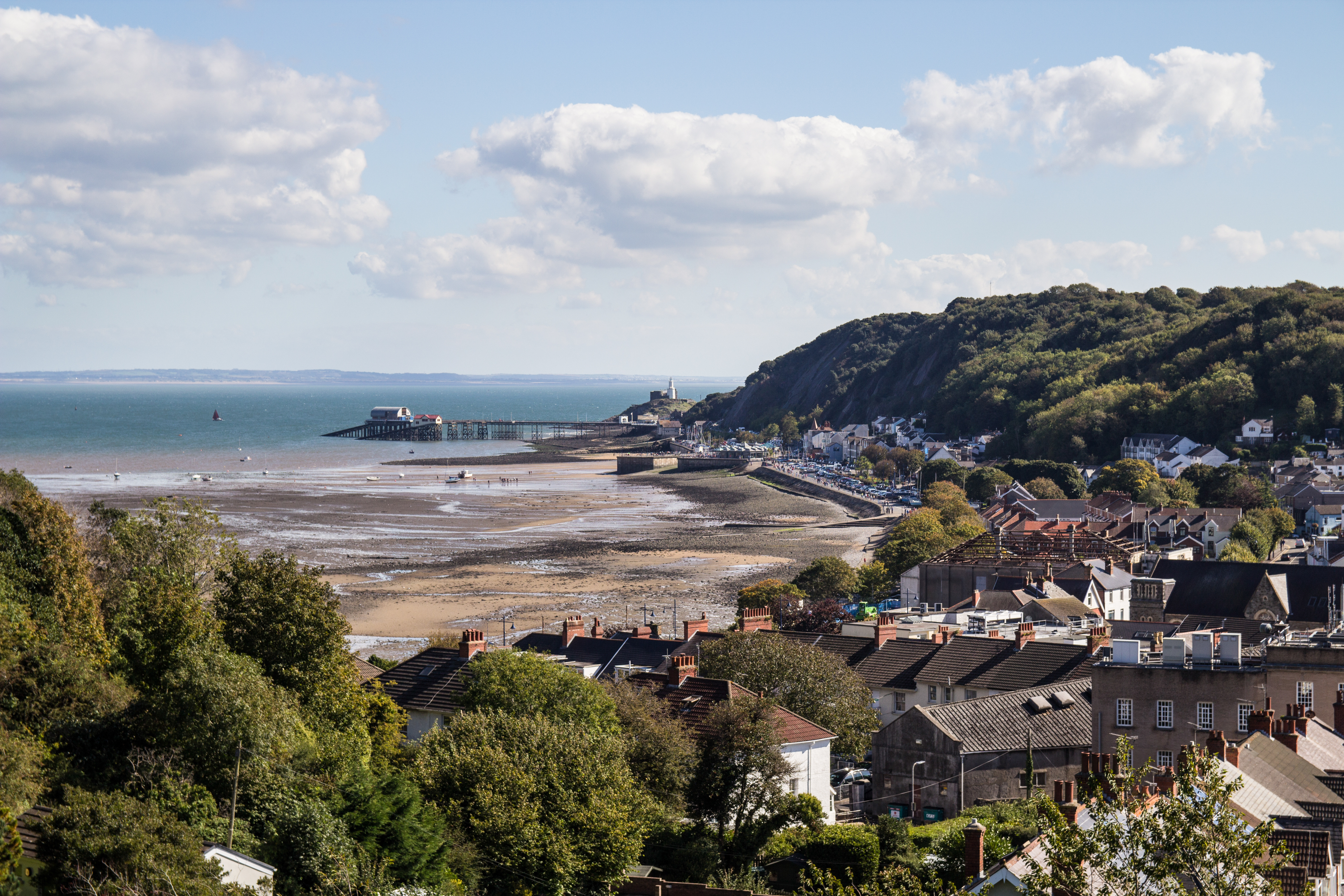 Coastal town in Wales by the Sea