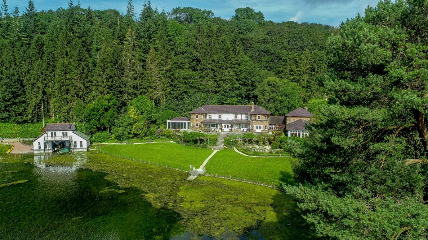 Plas Cambria lakeside North Wales 85 acres beautiful manor house