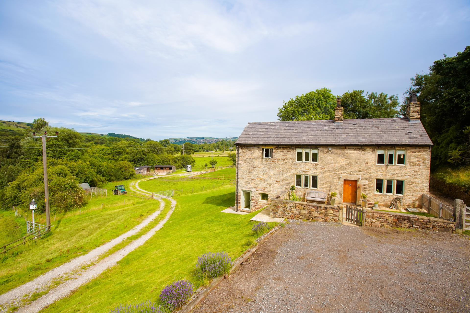 pretty stone equestrian country cottage