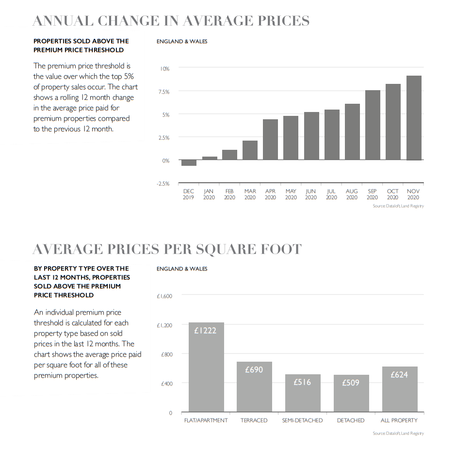 Property housing market report statistics graph January 2021
