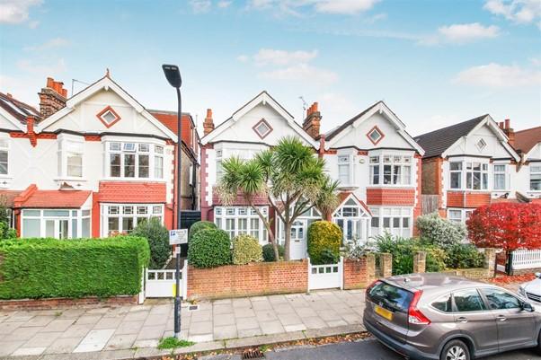 semi detached Edwardian house in West London