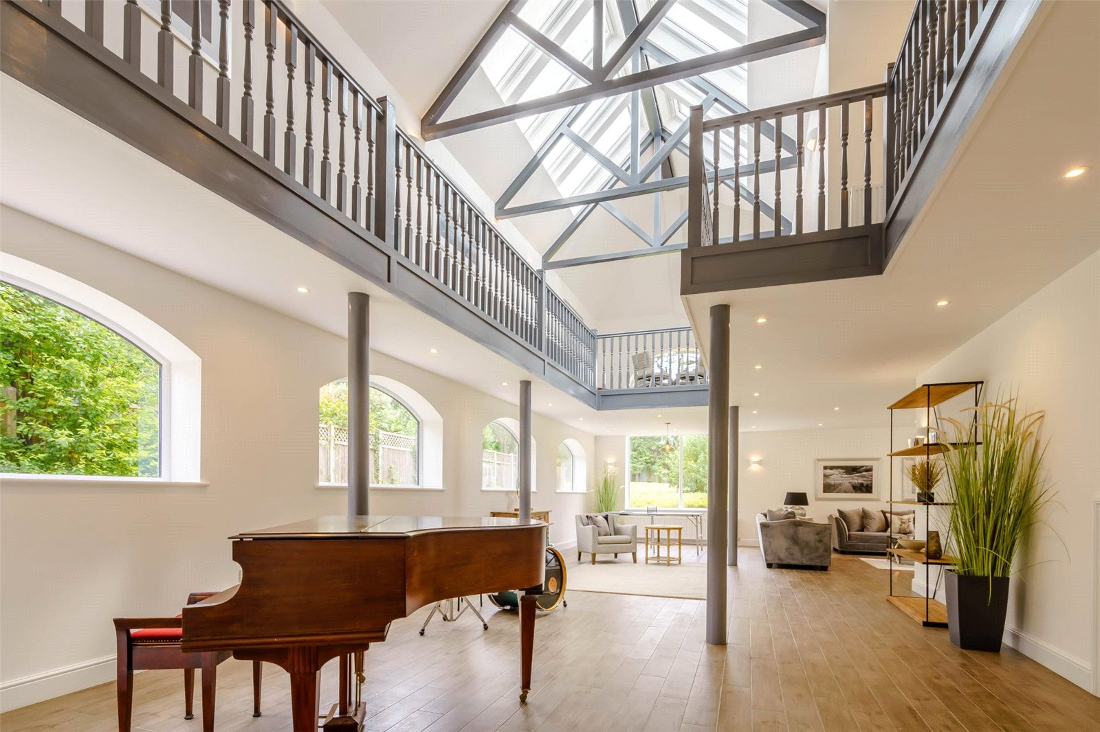 spacious double height renovated house modern interior