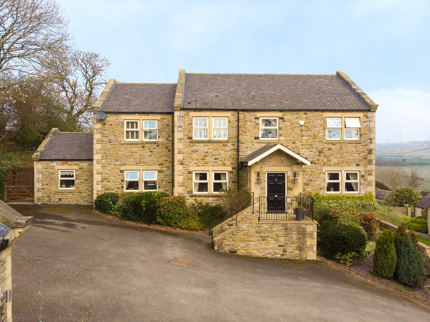 stone built countryside house Durham equestrian