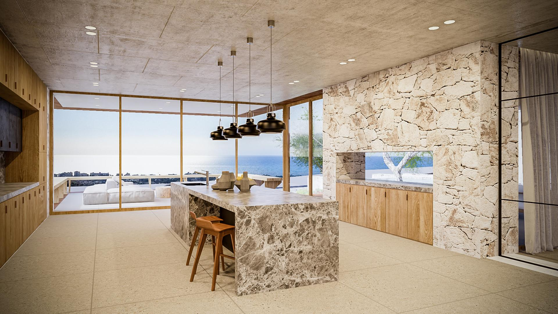 Contemporary Estate In Spain Brings Together Stylish Interiors And The Scenic Mediterranean Sea