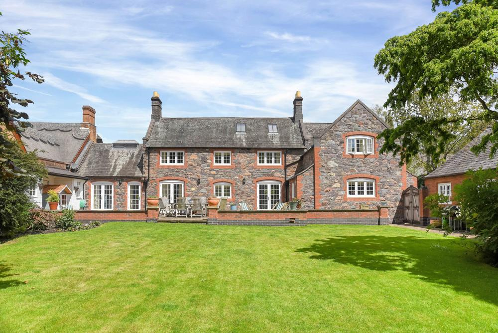 stone work village country home slate roof farmhouse in countryside
