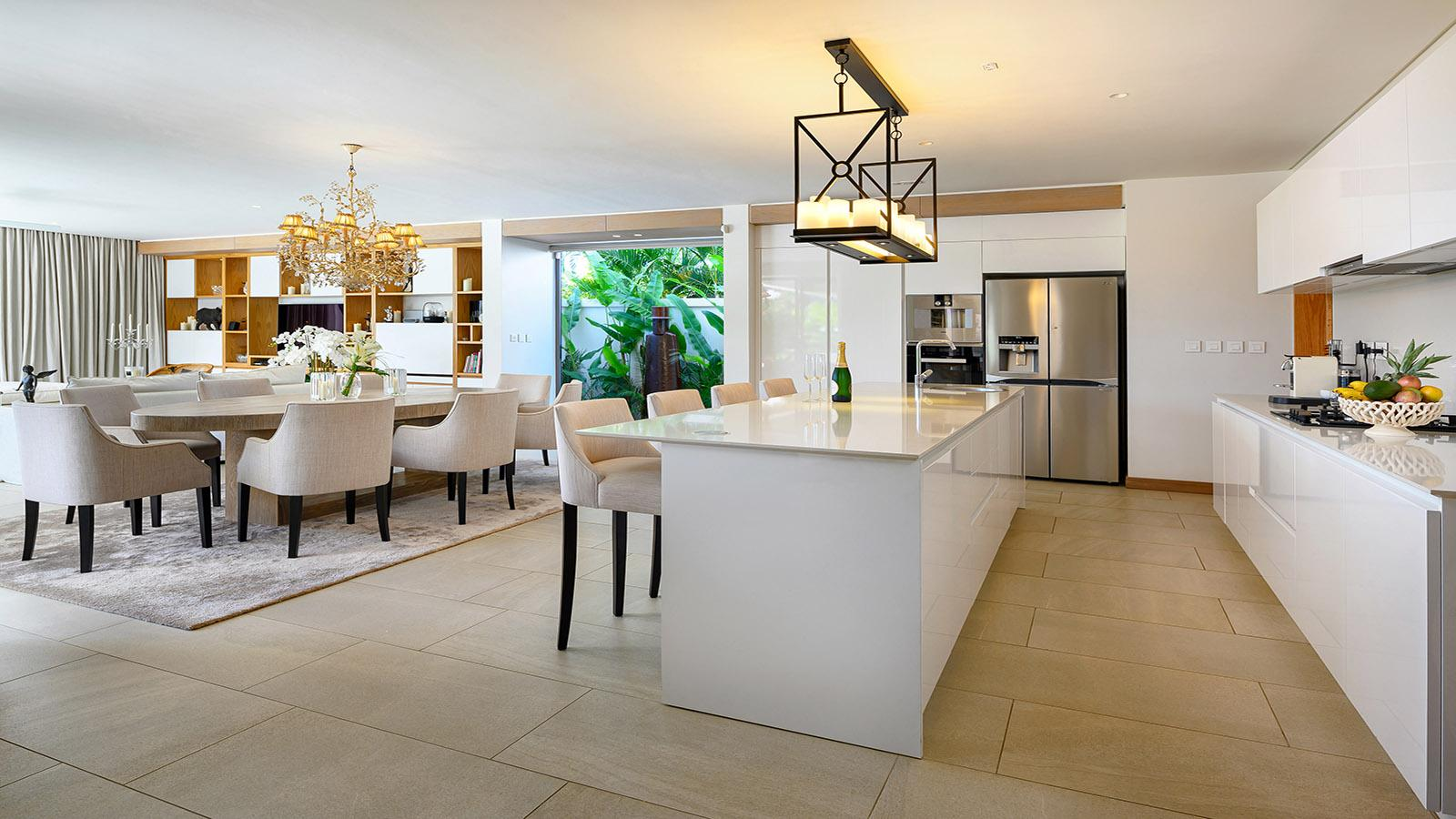 stylish contemporary open plan kitchen living and dining room