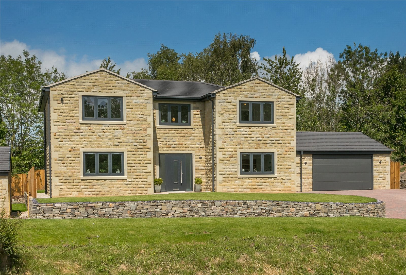 stylish new build stone family house