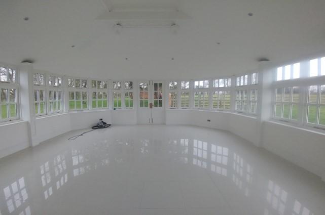 white marble floor garden conservatory room