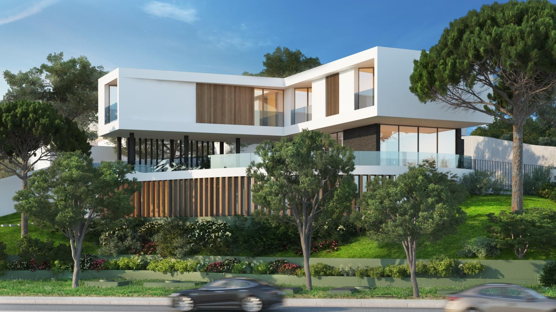 white modern luxury premium villa property in portugal