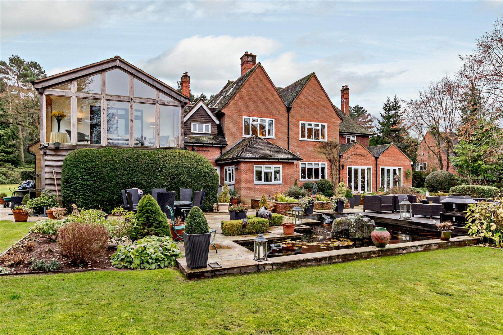 Worcestershire tudor period country home with al fresco dining terrace
