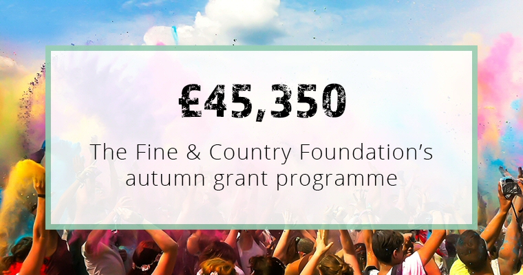 £45,350 given to 14 homeless charities in our autumn grant programme
