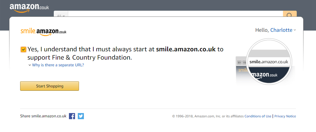 The Foundation is on AmazonSmile - Fine & Country Foundation