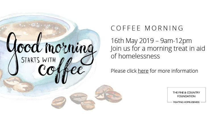 Good mornings start with coffee! Annual coffee morning returns this May